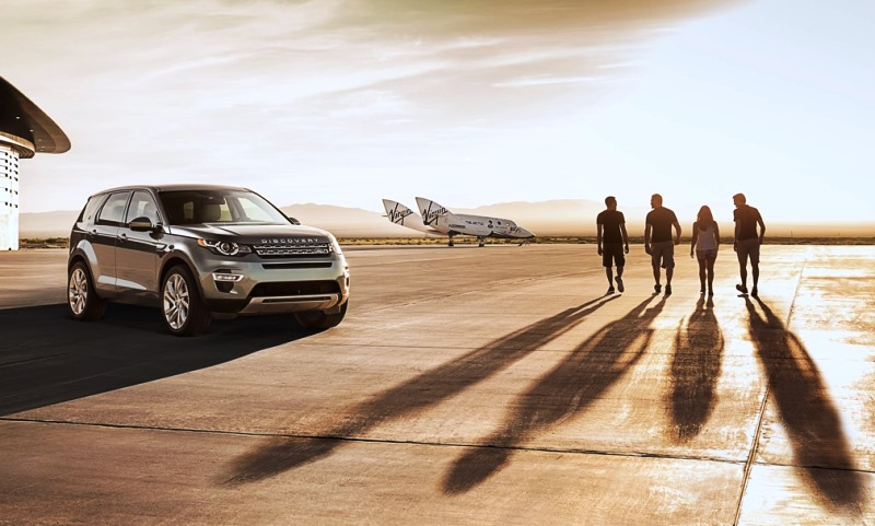 New Land Rover Discovery Sport with of the Virgin Galactic spacecraft