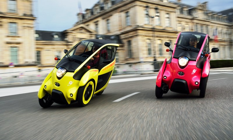 Toyota's i-ROAD electric vehicle