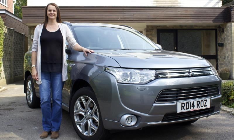Roz Drinkwater with her Mitsubishi Outlander PHEV