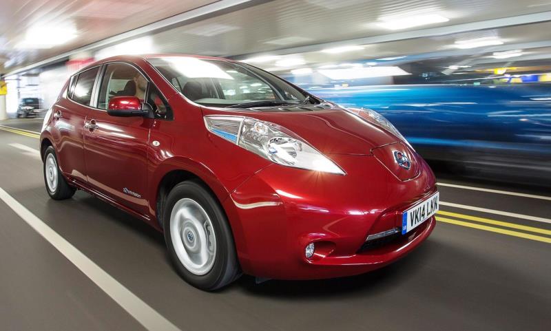100% electric Nissan Leaf