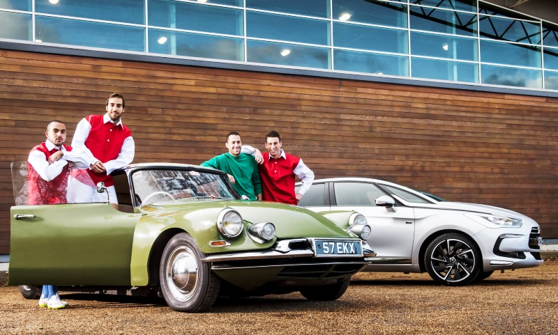 Arsenal stars with the Citroen DS