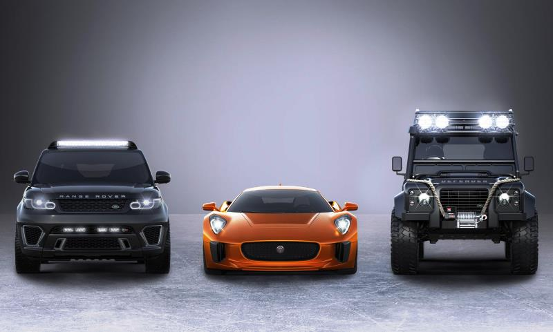 Jaguar Land Rover cars in new Bond movie