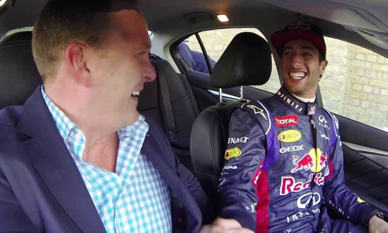 Daniel Ricciardo Infiniti test drive stunt