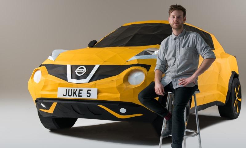 Owen Gildersleeve and his origami Nissan Juke