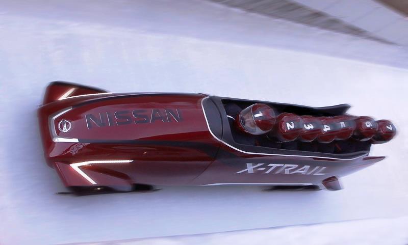 Nissan X-Trail seven-seater bobsleigh