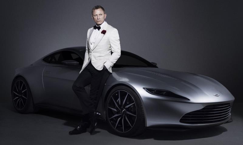 Daniel Craig and his Aston Martin DB10