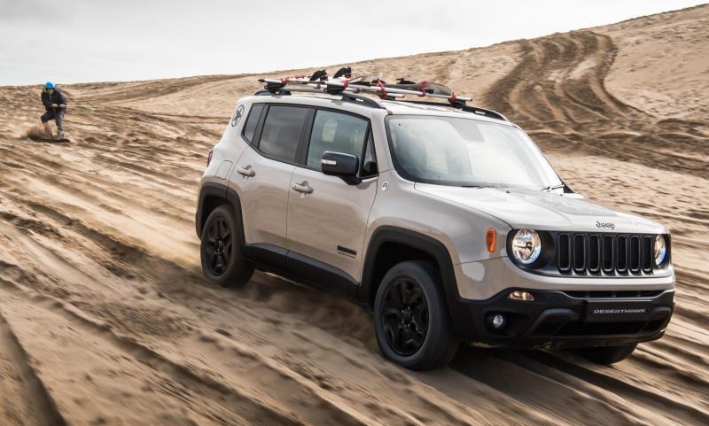 Jeep Renegade Desert Hawk with snowboarder Alex Bird