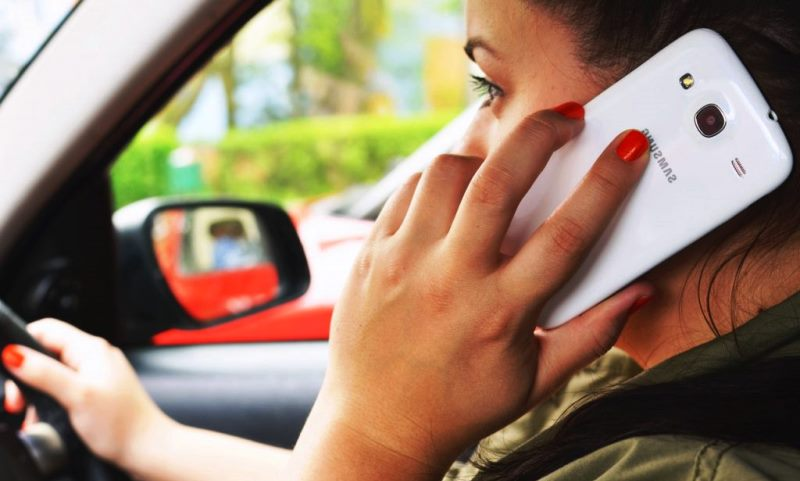 Driver on phone