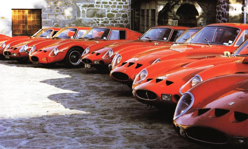 Classic Ferrari cars