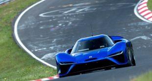 NIO EP9 all-electric supercar at the Nurburgring