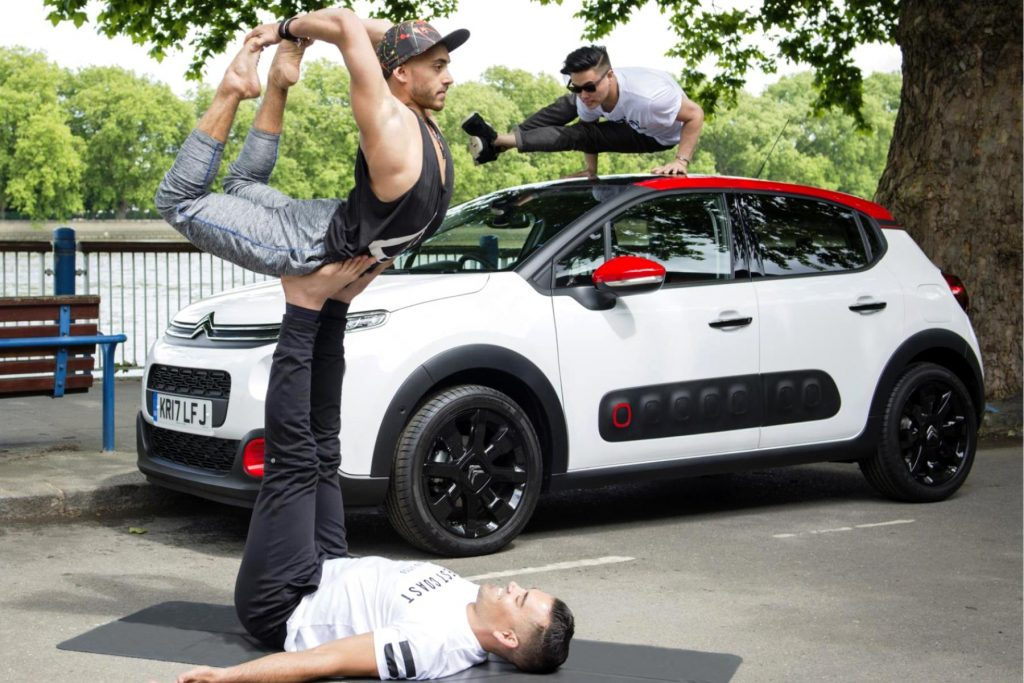 Citroen Car Yoga with Michael James Wong and Boys of Yoga