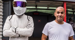 Top Gear's The Stig and Chris Harris