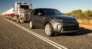 Land Rover tows 110-tonne Aussie 'Road Train'