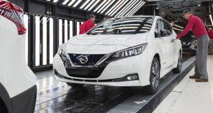 Second generation Nissan Leaf production begins in Sunderland