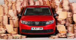 Dacia celebrates with Deliveroo pizza offer