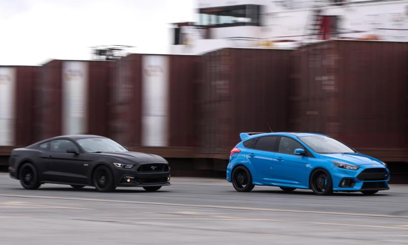 Ford Go Faster event Focus RS Mustang