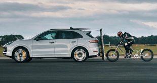 Porsche Cayenne cycle speed record
