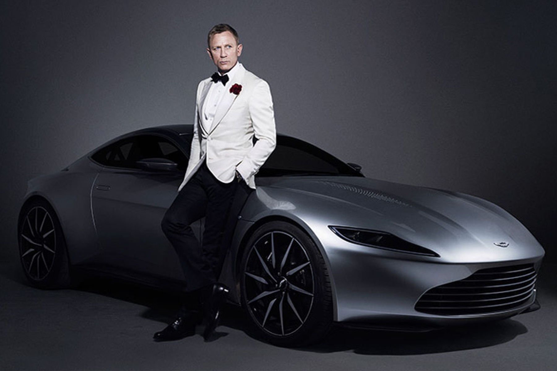 Aston Martin DB10 with Daniel Craig from Spectre