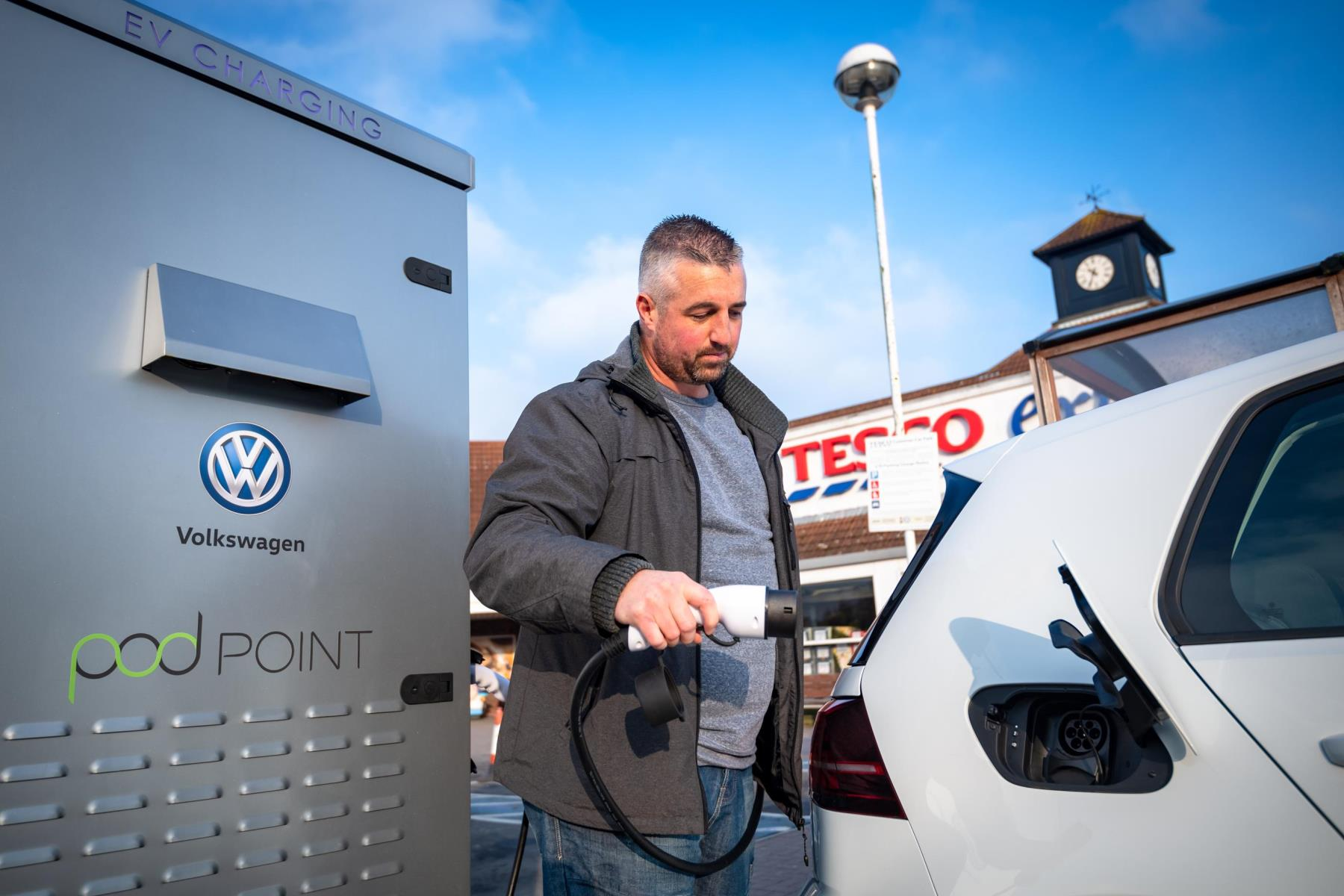 Volkswagen and Tesco chargepoint partnership