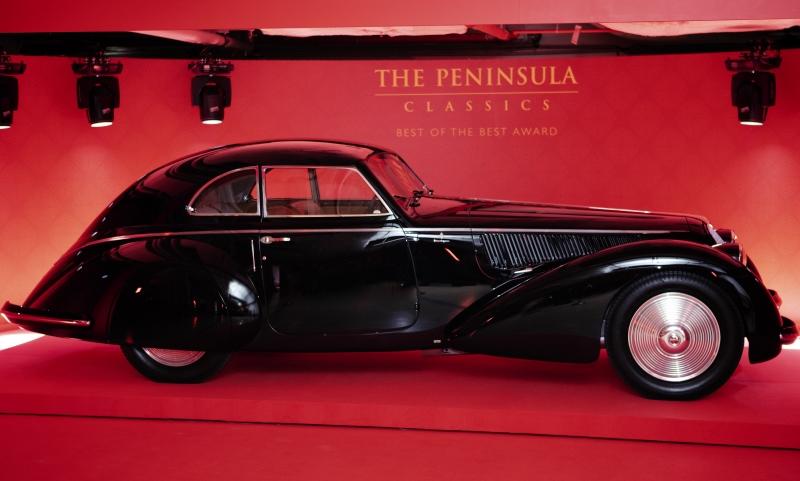 1937 ALFA ROMEO 8C 2900B BERLINETTA named winner of The Peninsula Classics Best of the Best Award