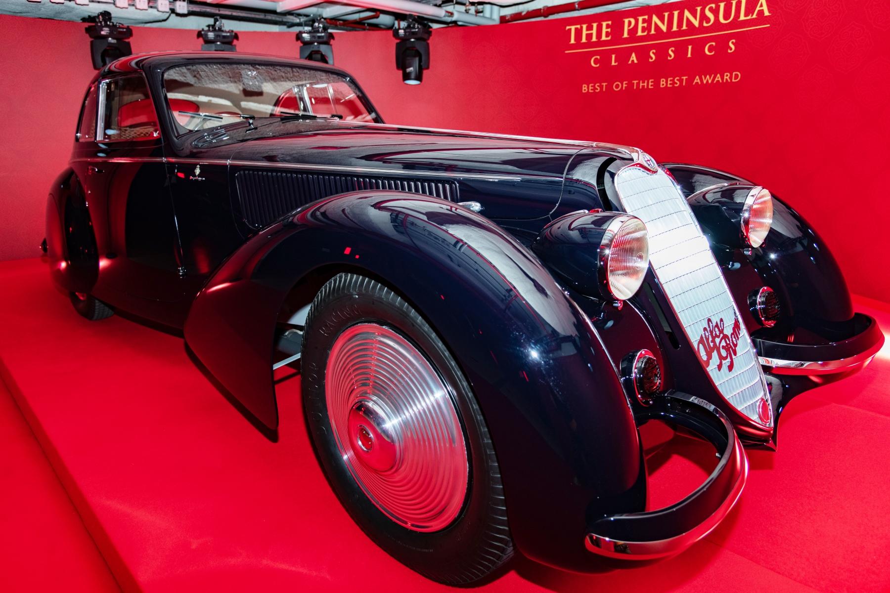 Photo credit @janacallmej 1937 ALFA ROMEO 8C 2900B BERLINETTA named winner of The Peninsula Classics Best of the Best Award