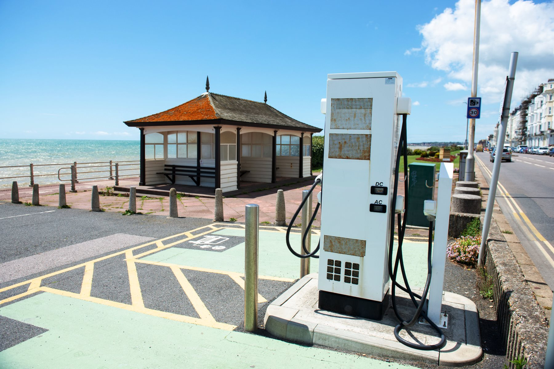 Electric car charging point in Hastings