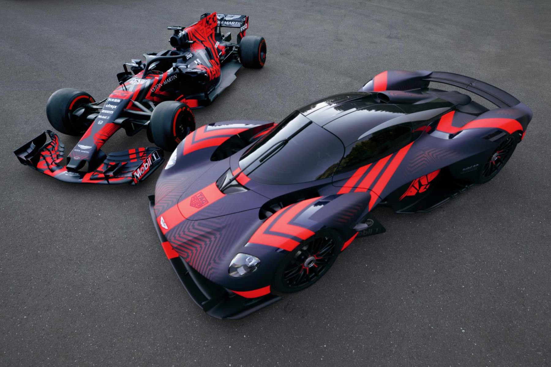 Aston Martin Valkyrie meets its F1 sibling
