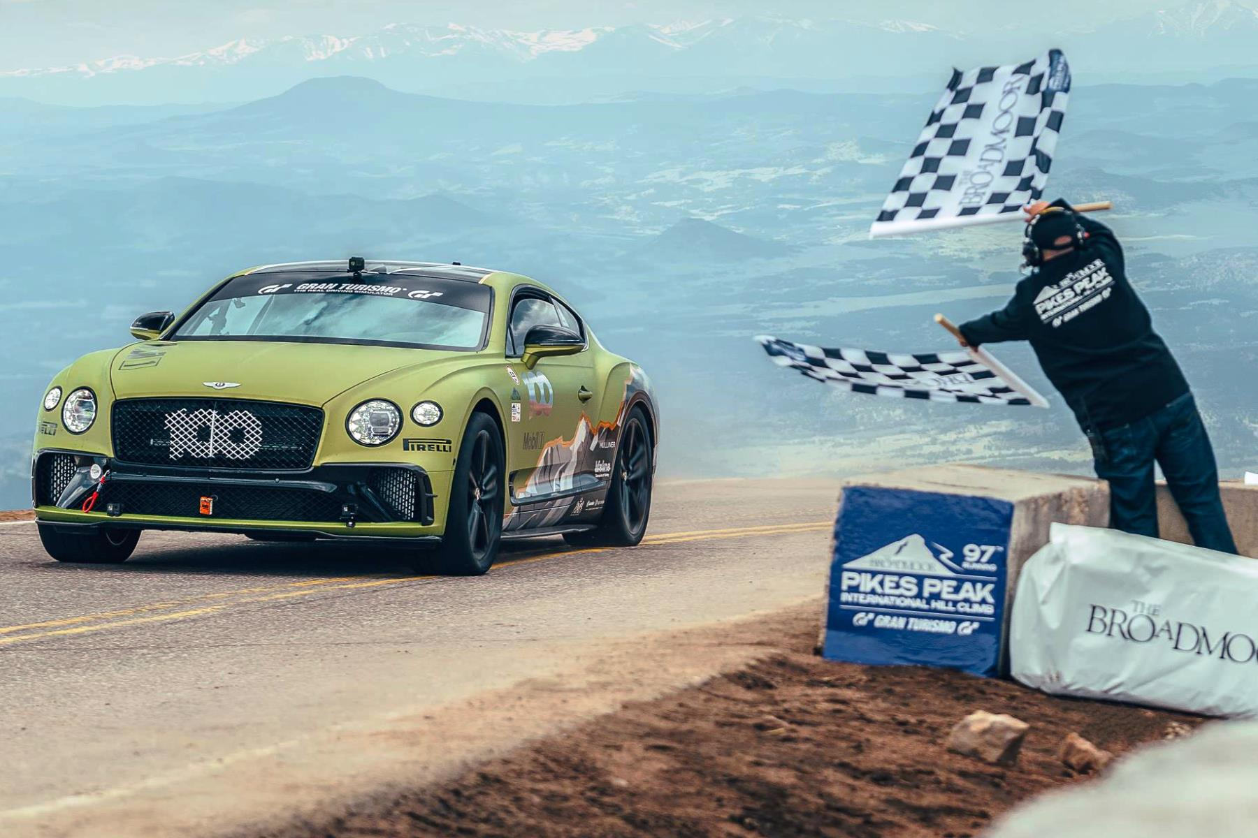 Bentley Continental GT Pikes Peak record