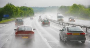 Motorway in rain