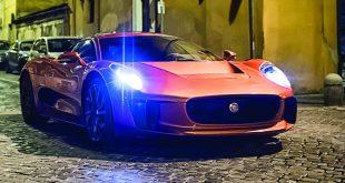 Jaguar C-X75 in Bond movie, Spectre