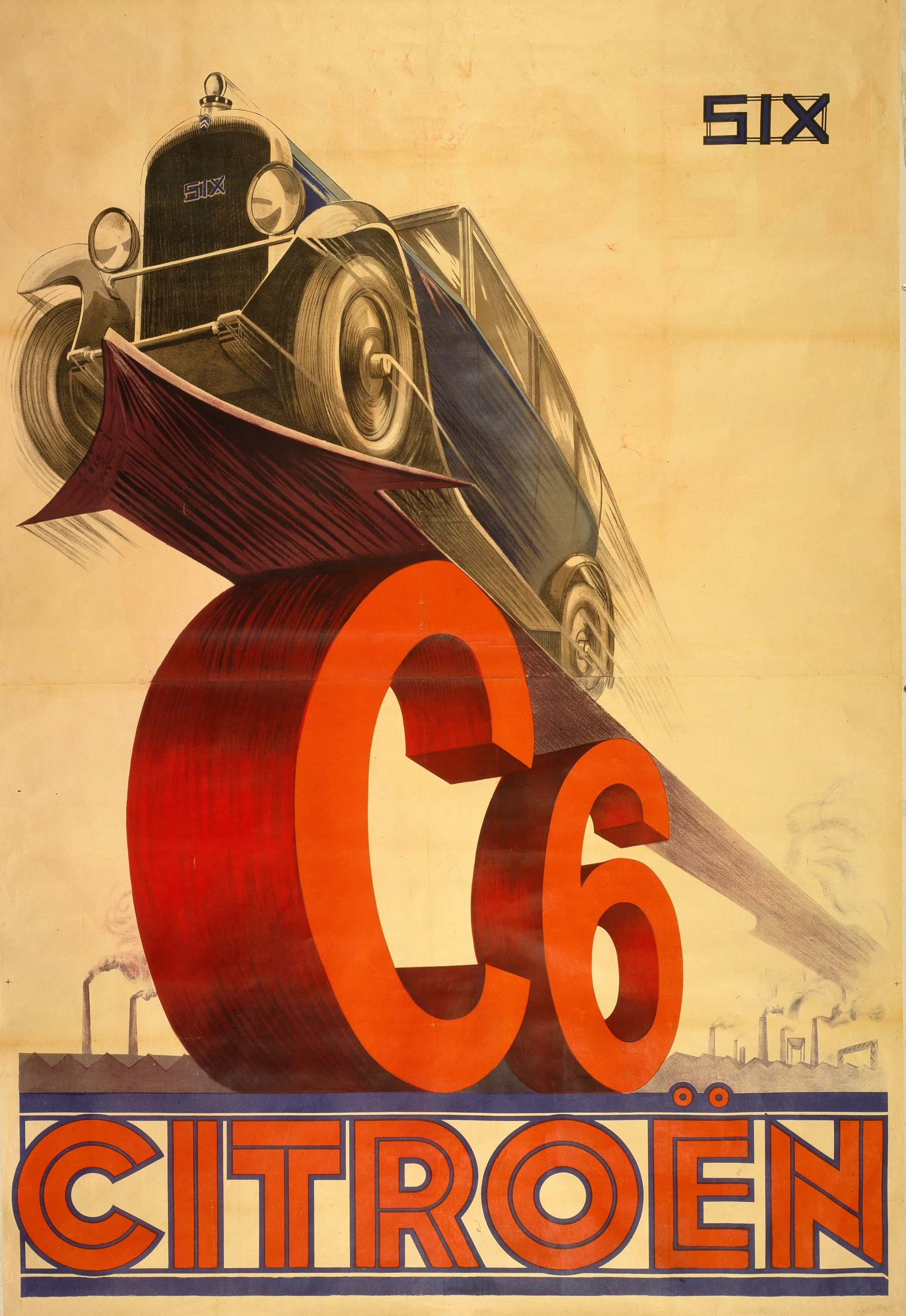 Vintage Citroen C6 advert