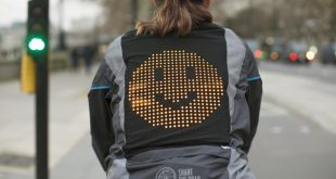 Ford's emoji mood jacket to keep cyclists safe