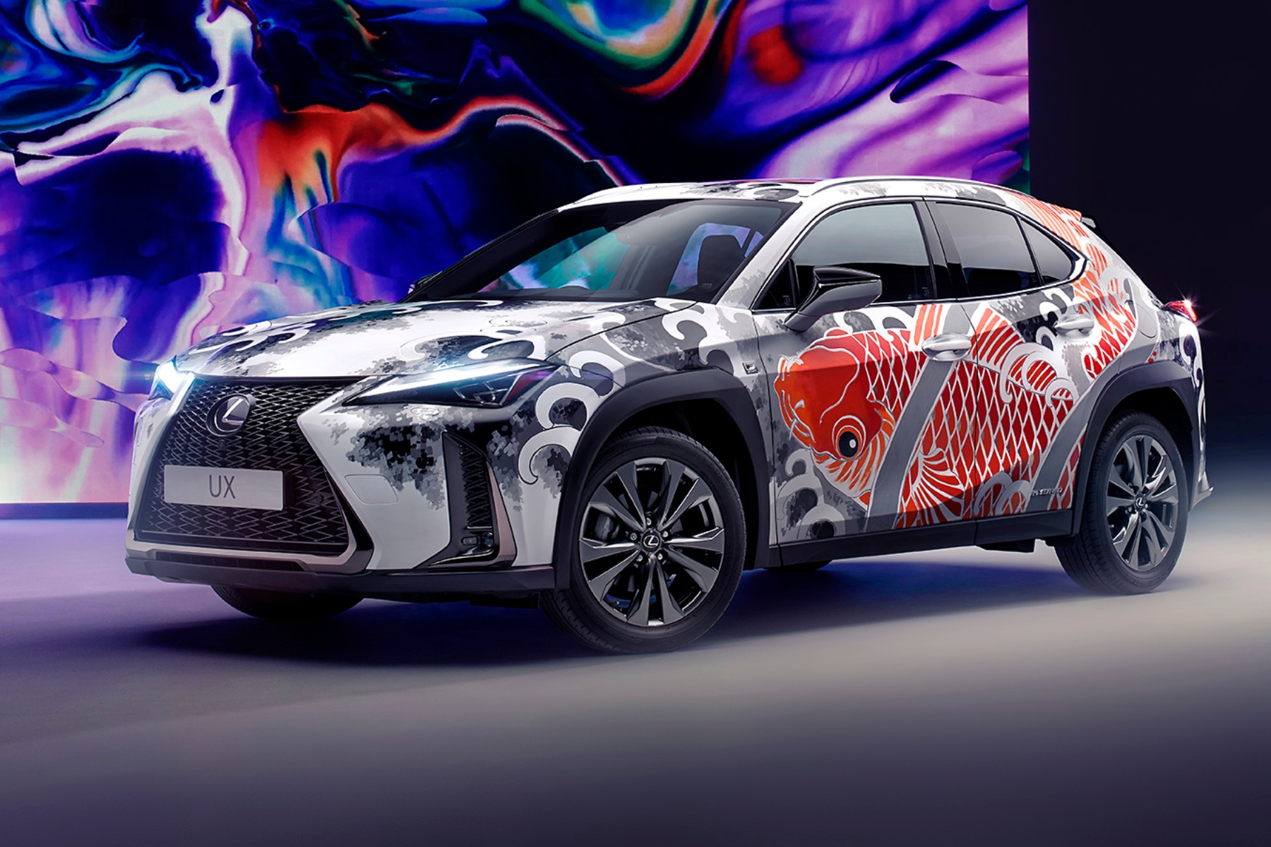 Lexus UX - world's first tattooed car