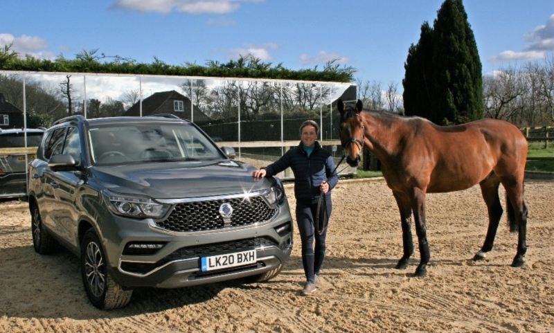 Pippa Funnell and her new SsangYong Rexton