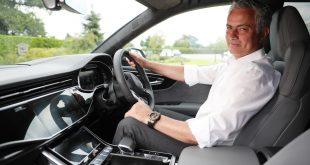 José Mourinho, Head Coach of Tottenham Hotspur Football Club and new Audi Ambassador, with his Audi Q8