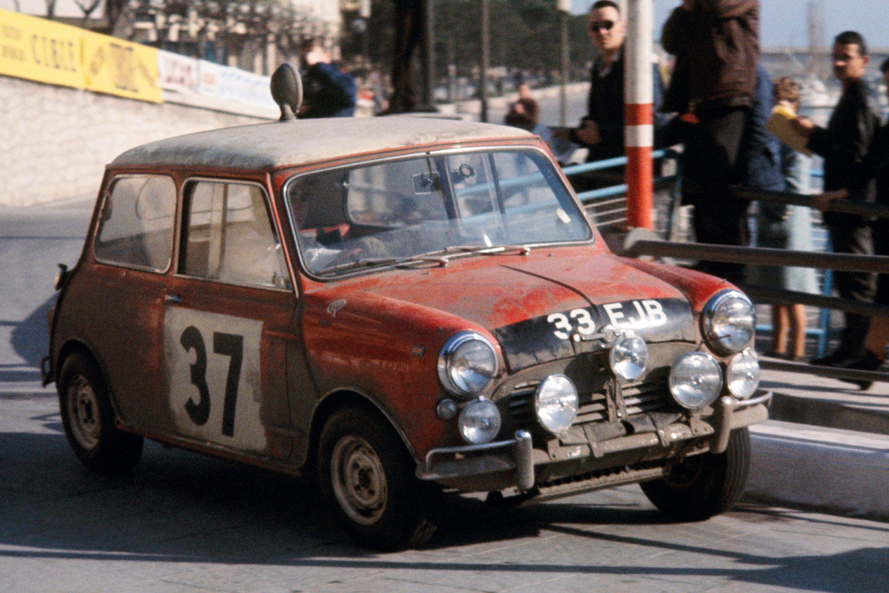 Paddy Hopkirk winning the Monte Carlo Rally