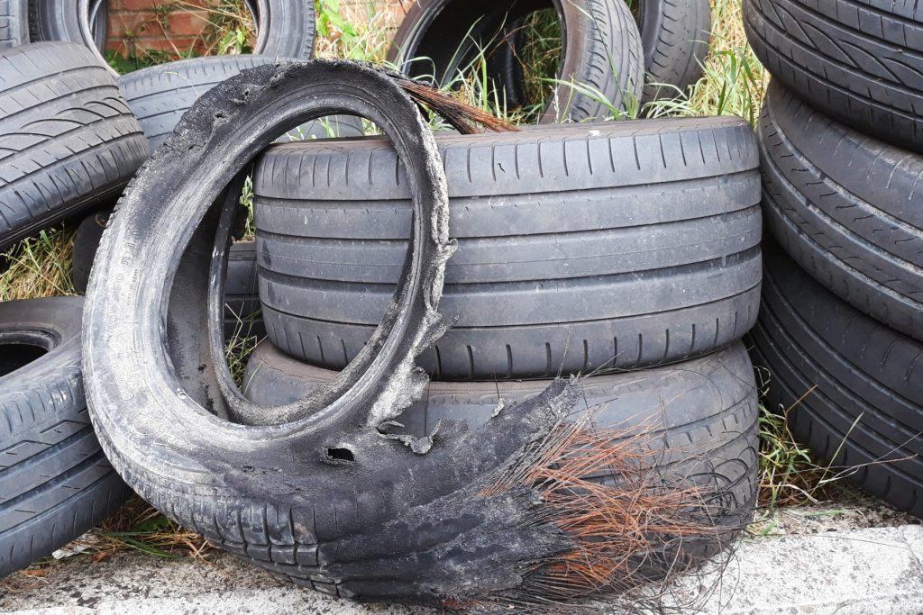 Bald, worn and damaged tyres - © Gareth Herincx