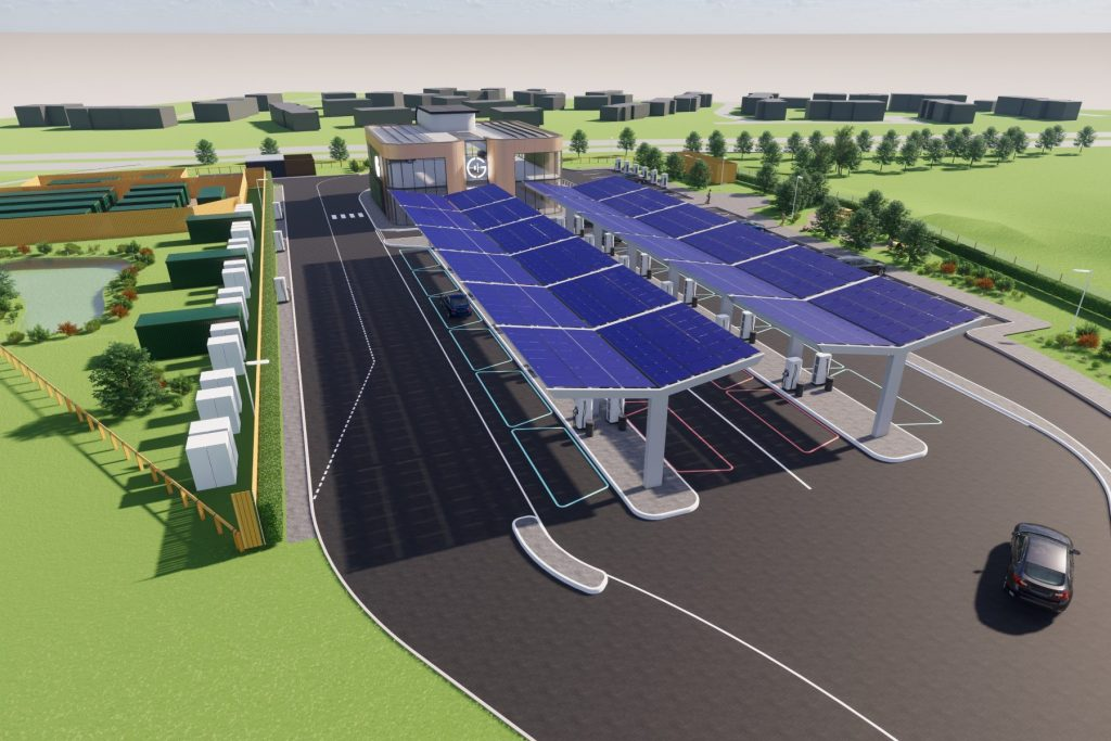 Overview of UK's first Electric Forecourt