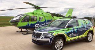Skoda Kodiaq joins Great Western Air Ambulance Charity fleet