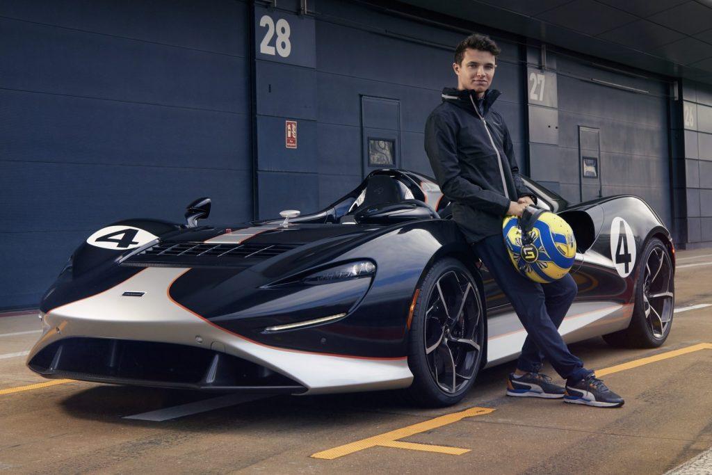 Lando Norris drives the all-new McLaren Elva
