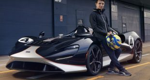 Lando Norris drives the all-new McLaren Elva