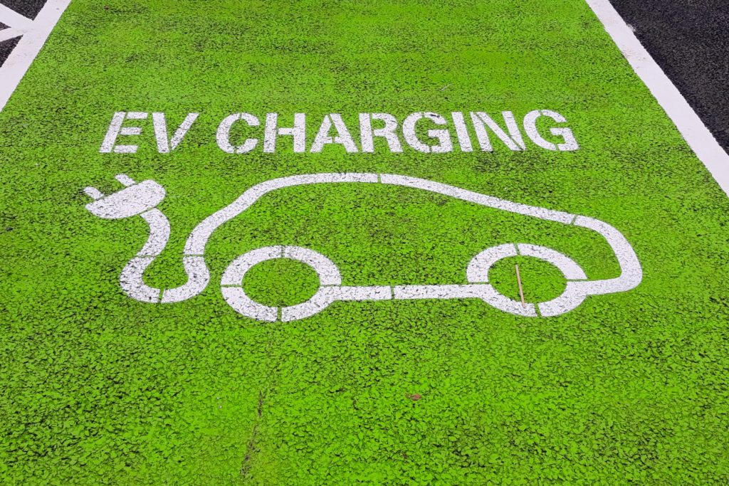 Electric car charging bay