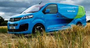 British Gas Vauxhall e-Vivaro van