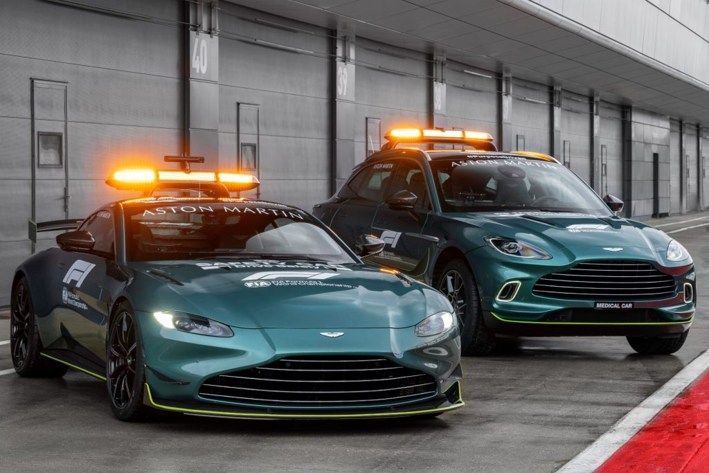 Aston Martin DBX - Official Medical Car of Formula 1 and Aston Martin Vantage - Official Safety Car