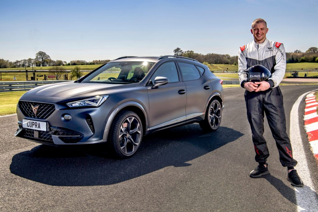 Swimmer Adam Peaty swaps water for wheels in a CUPRA Formentor