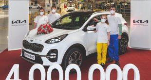 Four millionth car produced at Kia's Žilina plant in Slovakia