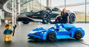 LEGO McLaren Elva speedster with Rachel Brown