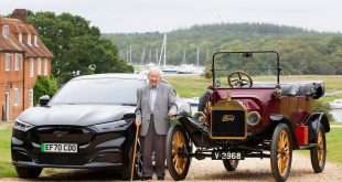 Harold-Baggott-with-a-Ford-Mustang-Mach-E-and-Model-T