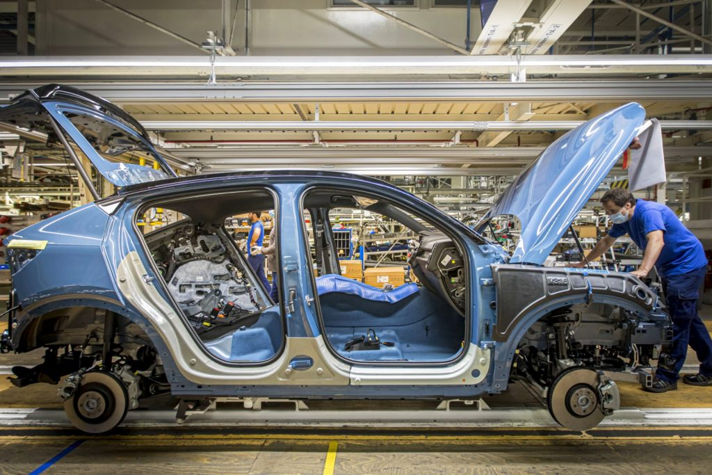 Volvo C40 Recharge production line in Ghent, Belgium