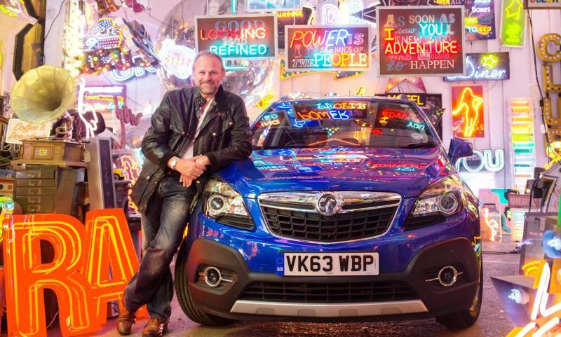 Neon artist Chris Bracey's Vauxhall Mokka celebration